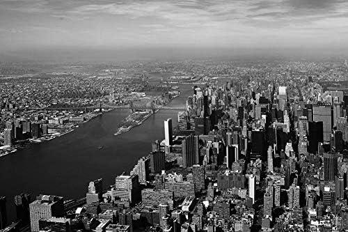 ニューヨーク市の壁紙-世界の壁紙-#23368 - 白黒の キャンバス ステッカー 印刷 壁紙ポスター はがせるシール式 写真 特大 絵画 壁飾り 90cmx60cm