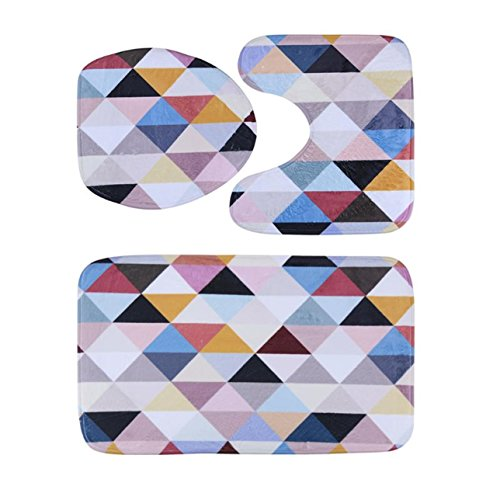 GVGs Shop 1 Set  Flannel Pad Rug Bathtub Mat Toddler Anti Sl