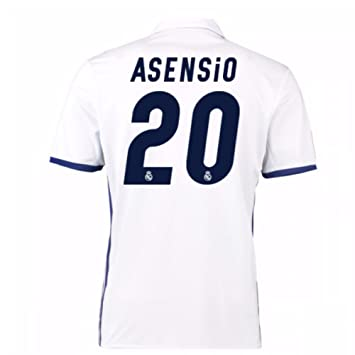 3c411ab7cdd 2016-17 Real Madrid Home Football Soccer T-Shirt (Marco Asensio 20)   Amazon.co.uk  Sports   Outdoors