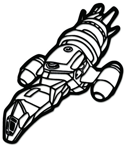 Serenity Firefly Spaceship Vinyl Decal Sticker For Vehicle Car Truck Window Bumper Wall Decor - [6 inch/15 cm Tall] - Gloss WHITE Color -