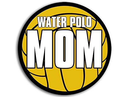 Water Polo Accessories - ROUND Ball Shaped Water Polo MOM Sticker (h20 decal h2o)