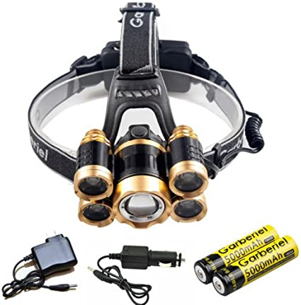 Tactical 80000LM LED Flashlight Lamp Headlight Rechargeable Zoom+Battery+Charger