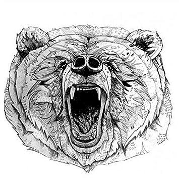 Tatuajes Temporales Adultos Brazo The Roaring Bear Tatuaje ...