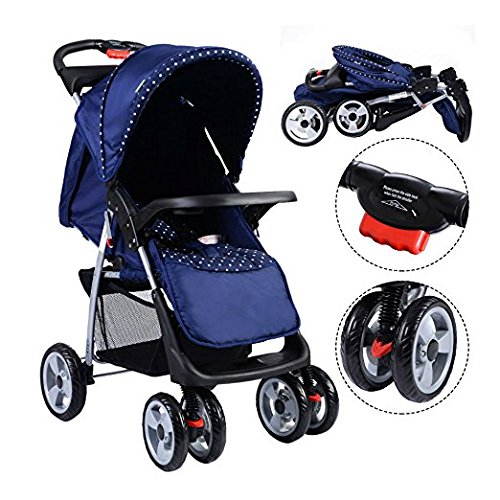 Foldable Baby Kids Travel Stroller Newborn Infant Buggy Pushchair Child Blue by Unknown (Image #5)