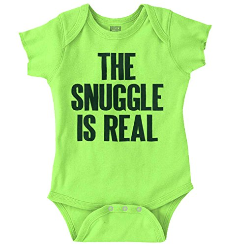Screen Print Onesie - Snuggle is Real Cute Baby Clothes New Parent Funny Gift Idea Romper Bodysuit