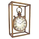Design Toscano MH145166 Industrial Age Mantel Clock, Brass