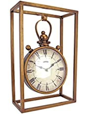 Design Toscano MH145166 Industrial Age Mantel Clock, 21.5 cm, Metalware, Brass