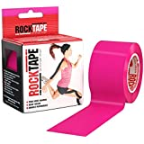 RockTape Kinesiology Tape for Athletes - 2-Inch x 16.4 Feet (Hot Pink)