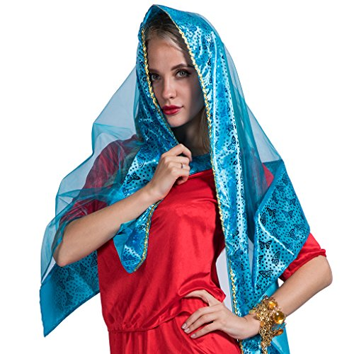 EraSpooky Señoras Rojo Bollywood Asiáticos Jasmine Sari Disfraz: Amazon.es: Ropa y accesorios