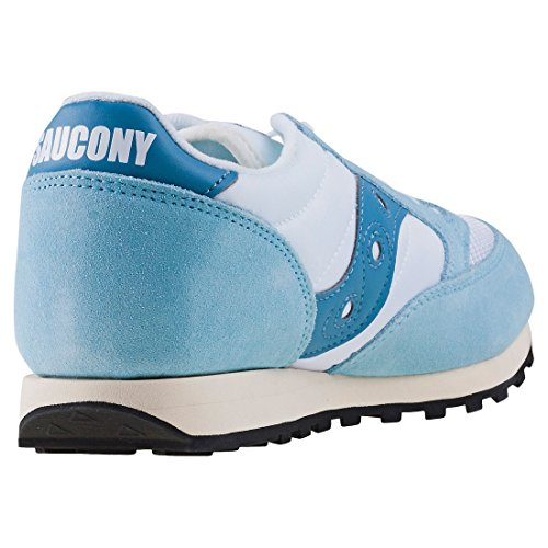 Saucony Youth Jazz Original Vintage A17000-7 Leather Trainers Celeste blanco