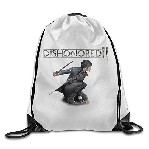 Price comparison product image Dishonored 2 Video Game Sport Backpack Drawstring Print Bag