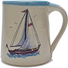Great Bay Pottery Sailboat Coffee Mug
