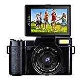 Digital Camera Vlogging Camera 24MP Camcorder Full HD 1080p Camera Flip Screen 180 Degree Rotation