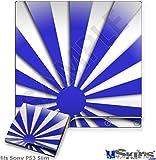 Sony PS3 Slim Skin - Rising Sun Japanese Blue