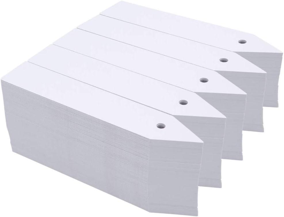 KINGLAKE 500 Pcs Plastic Plant Nursery Garden Labels Pot Marker Garden Stake Tags Grayish White