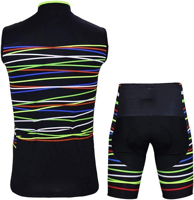 Sunbike /Ärmelloses Herren-Radtrikot mit gepolsterten Shorts