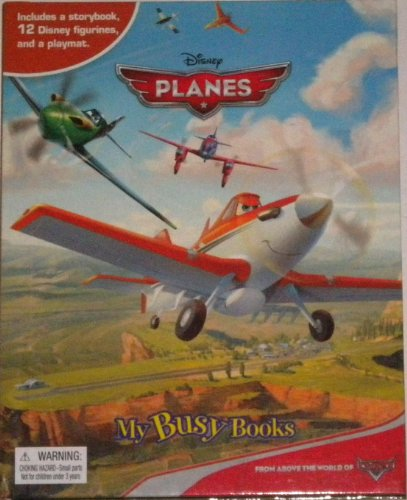 Disney Planes My Busy Book Storybook 12 Figures Playmat New (Disney Planes Bravo And Echo)