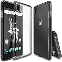 OnePlus X Case, Ringke FUSION [SMOKE BLACK] Shock Absorption TPU Bumper Drop Protection [FREE Screen Protector] Premium Crystal Clear Hard Back [Anti-Static][Scratch Resistant] for OnePlus X