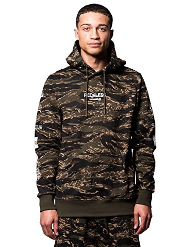 Mens Young Apparel (Young and Reckless - Malachi Hoodie- Tiger Camo - XL - Mens - Tops - Hoodies - Tiger CAMO)