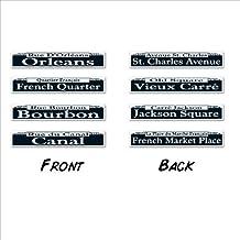 Mardi Gras Street Sign Cutouts 4in. x 24in. 4/Pcs.Pkg/12 by Beistle