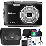 Nikon COOLPIX A100 20.1MP f/3.7-6.4 Max Aperture Compact Digital Camera 8GB Accessory Kit Black