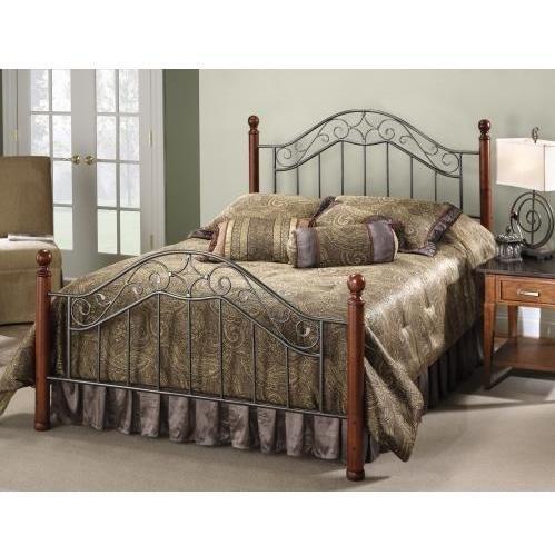 Hillsdale Furniture 1392BK Martino Bed Set, King, Smoke