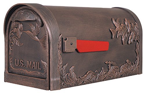 Special Lite Products SCB-1005-CP Hummingbird Curbside Mailbox, Copper - Mount Copper Mailbox