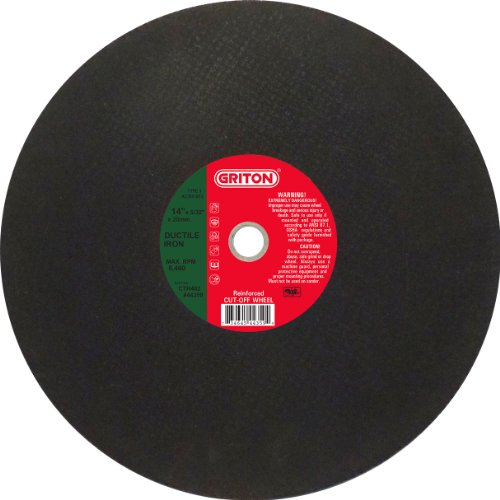 Griton CTH482 Arbor Industrial Cut Off Wheel for Ductile Iron Used on High Speed Saws, 20 mm Hole Diameter, 12