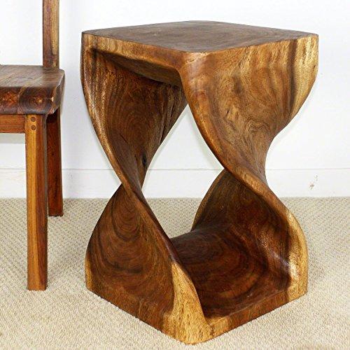 Strata Furniture TET1523 Twist Side Table, Walnut, 15