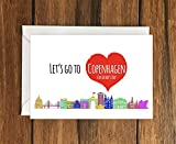 Let's Go To Copenhagen for Fathers Day greeting card A6