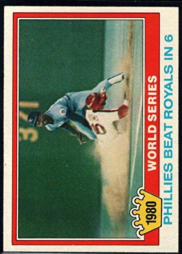 Baseball MLB 1981 Topps #403 1980 World Series