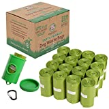 Wise Choice Poop Bags, Large Pet Dog Waste Bags, 720 Dog Poop bags for Dog Waste Pickup and Cat Litter Box Cleanup, Earth Friendly, Unscented, Leak-Proof, Green, Free Dispenser & Metal Leash Clip