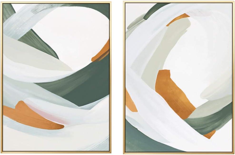Pintura sobre lienzo Bloques de color nórdico Carteles y Arte de moda HD Decoración para el hogar Estilo abstracto Cuadros de pared-50x70cm Sin marco
