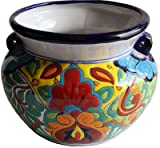 Fine Crafts Imports Rainbow Talavera Ceramic Pot