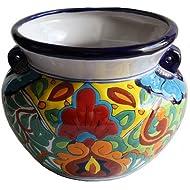 Fine Crafts Imports Rainbow Talavera Ceramic Pot
