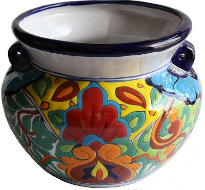 Talavera Ceramic Pot (Rainbow Talavera Ceramic Pot)