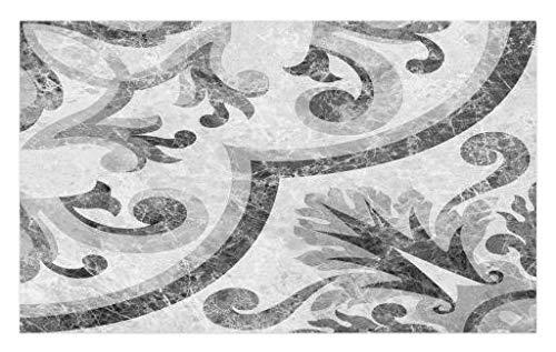 Lunarable Marble Doormat, Baroque Rococo Style Victorian