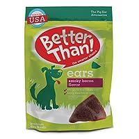 Mejores golosinas para perros Better Than Ears, sabor ahumado a tocino, bolsa de 36 unidades
