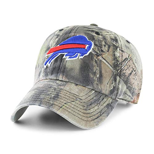 Camo Cap Bill (OTS NFL Buffalo Bills Male Mossy Oak Challenger Adjustable Hat, Mossy Oak-Break Up Country, One Size)