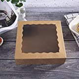 ONE MORE 9inch Brown Bakery Pie Boxes,Large Kraft