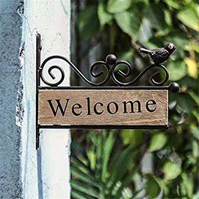 Cartel de bienvenida Interior de metal al aire libre de ...
