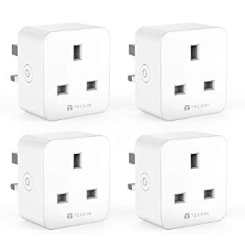 Smart Plug WiFi Socket TECKIN Works with Amazon Alexa Google Home and IFTTT  Timing Function Remote Control No Hub Required (4 Pack)