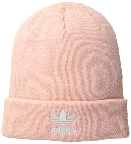 (adidas Women's Originals Trefoil Beanie, Ice Pink/White, One Size)