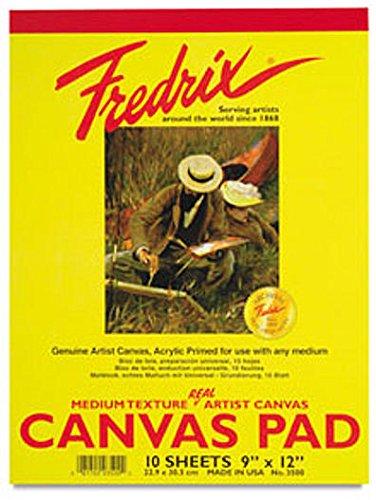 Fredrix Canvas Pads (9 In. x 12 In.) 1 pcs sku# 1843521MA ()