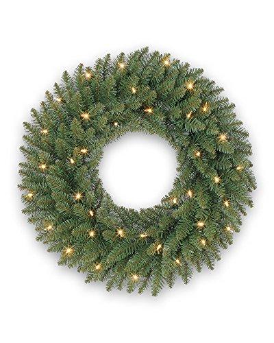 Balsam Hill Berkshire Mountain Fir Prelit Artificial Christmas Wreath, 48 Inches, Clear Lights by Balsam Hill