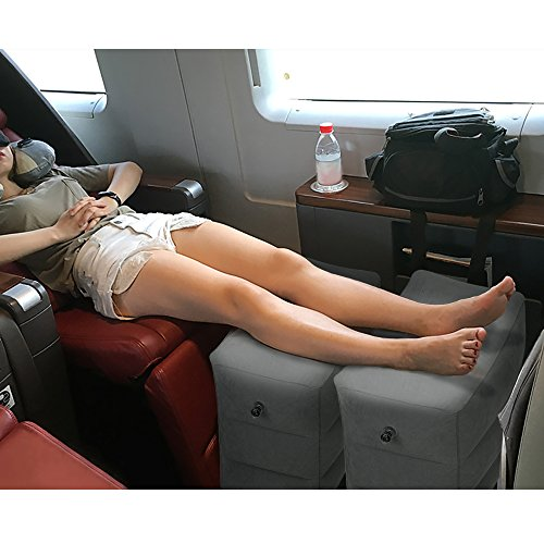 Inflatable Beds With Legs: HOMCA Travel Foot Rest Pillow, Inflatable Travel Leg Rest