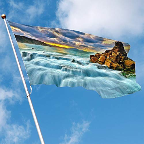 - YUANSHAN Home Garden Flag Nature Waterfall Polyester Flag Indoor/Outdoor Wall Banners Decorative Flag 3' X 5'