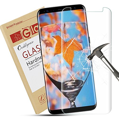 Galaxy S8 Plus Screen Protector,Coddycase Galaxy S8 Plus Tempered Glass, [Case Friendly][Anti-Scratch] 3D Curved Tempered Glass Screen Protector for Samsung Galaxy S8 Plus (Color 2)