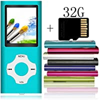 Tomameri Portable MP3 / MP4 Player with a 32 GB Micro SD Card, mp3 Player with Rhombic Button, Mini USB Port, E-Book Reader, Photo Viewer, Voice Recorder, Including Earphones and USB cable - Blue