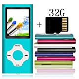Tomameri - Portable MP3 / MP4 Player with Rhombic Button, Including a Micro SD Card and Support Up to 64GB, Compact Music, Video Player, Photo Viewer Supported - Blue